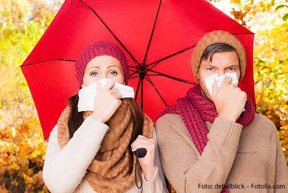 Wenn ein grippaler Infekt sich festgesetzt hat, sollten Sie zu uns in die HNO-Praxis kommen.